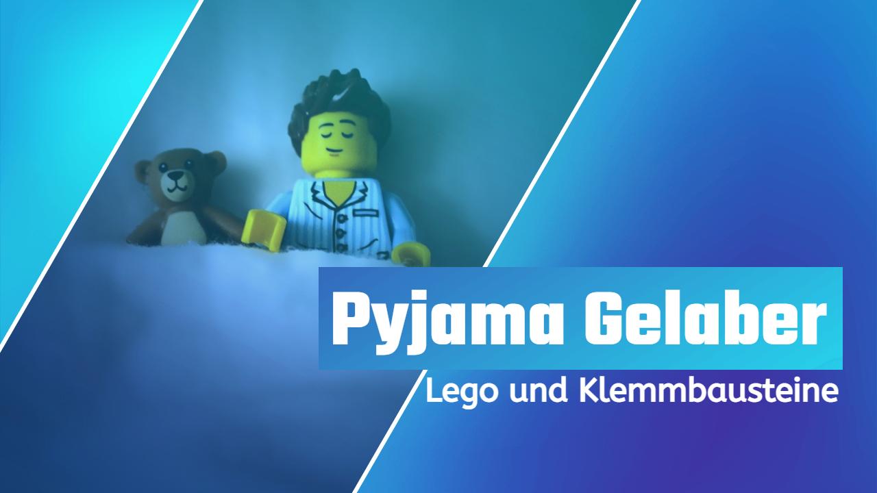 Pyjama Gelaber – Lego und Klemmbausteine